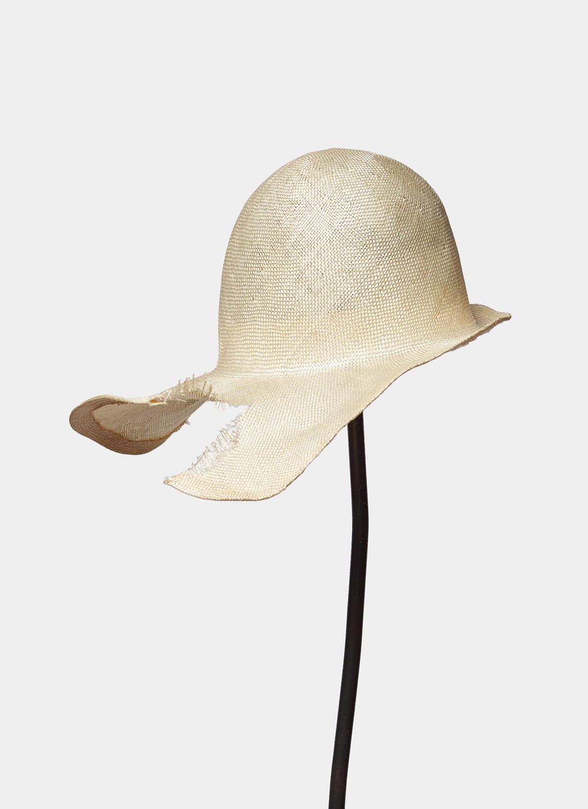 Reinhard Plank Lisa Destroyed Straw Hat_Front-Main