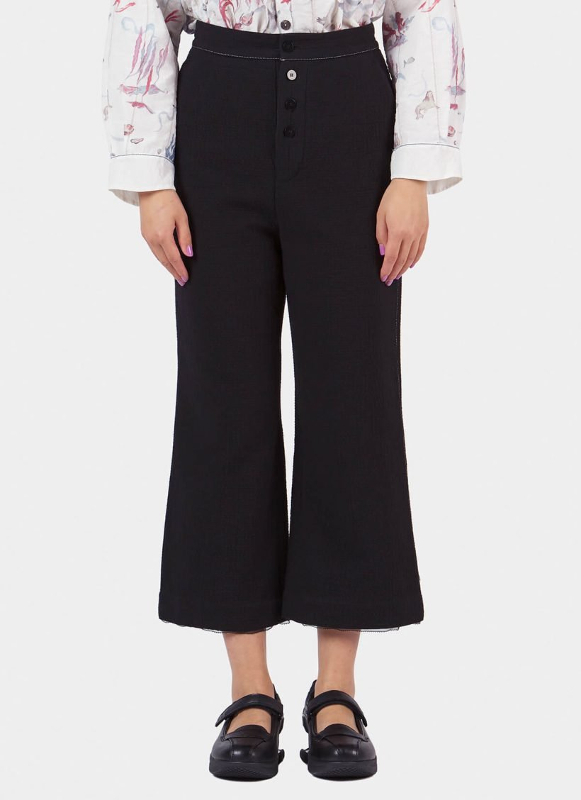 Renli Su Straight Cut Trousers-Front