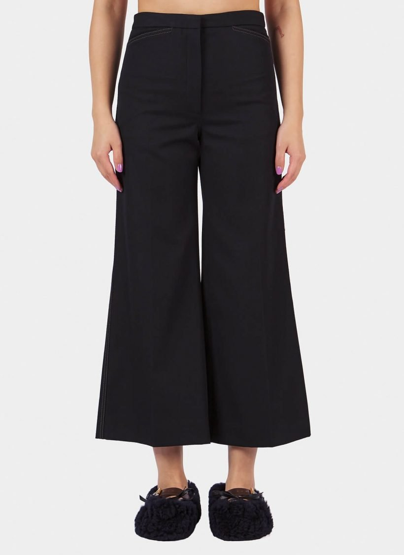 Lemaire Flared Pants-Front