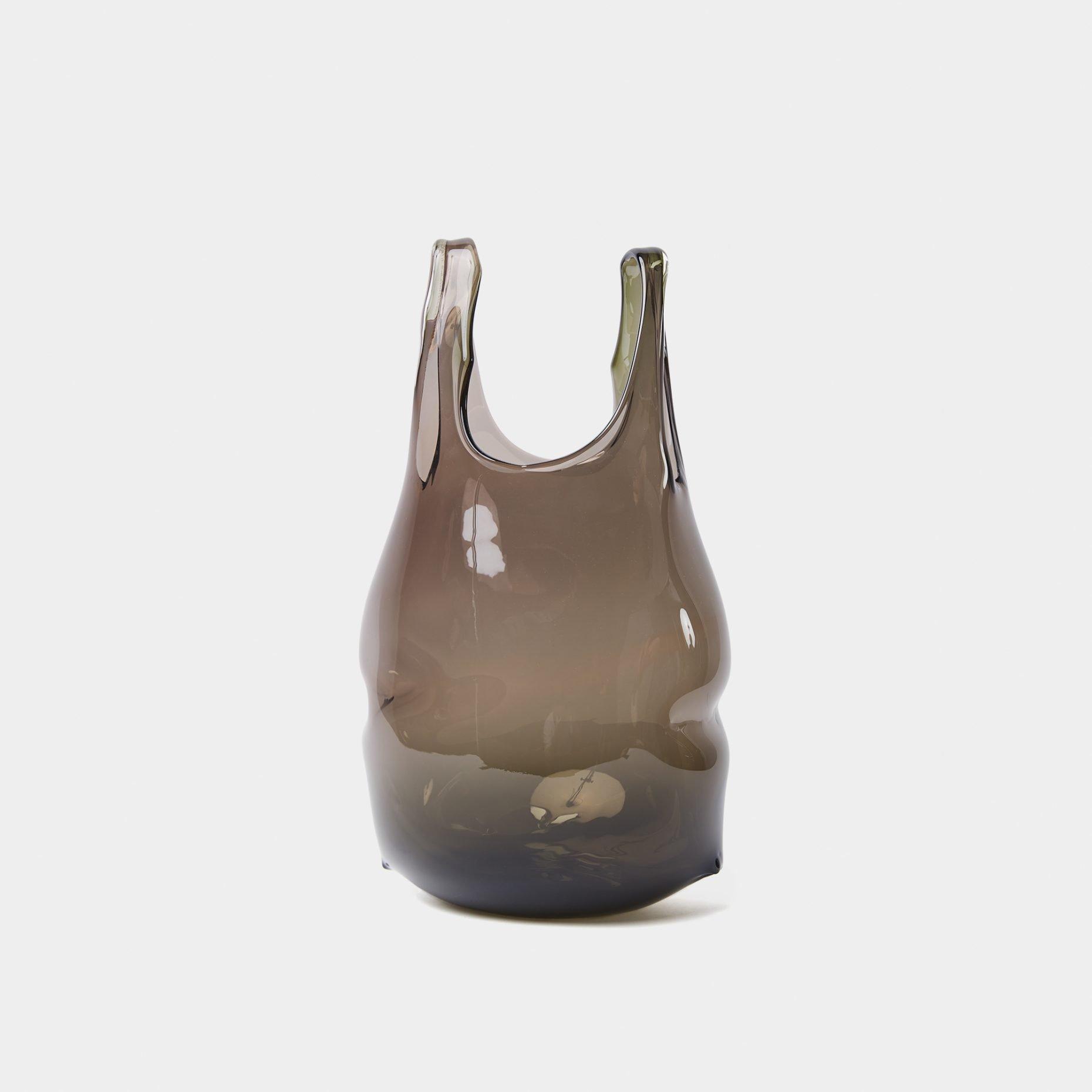 Anne Donzé Et Vincent Chagnon Glass Bag Model M Grey