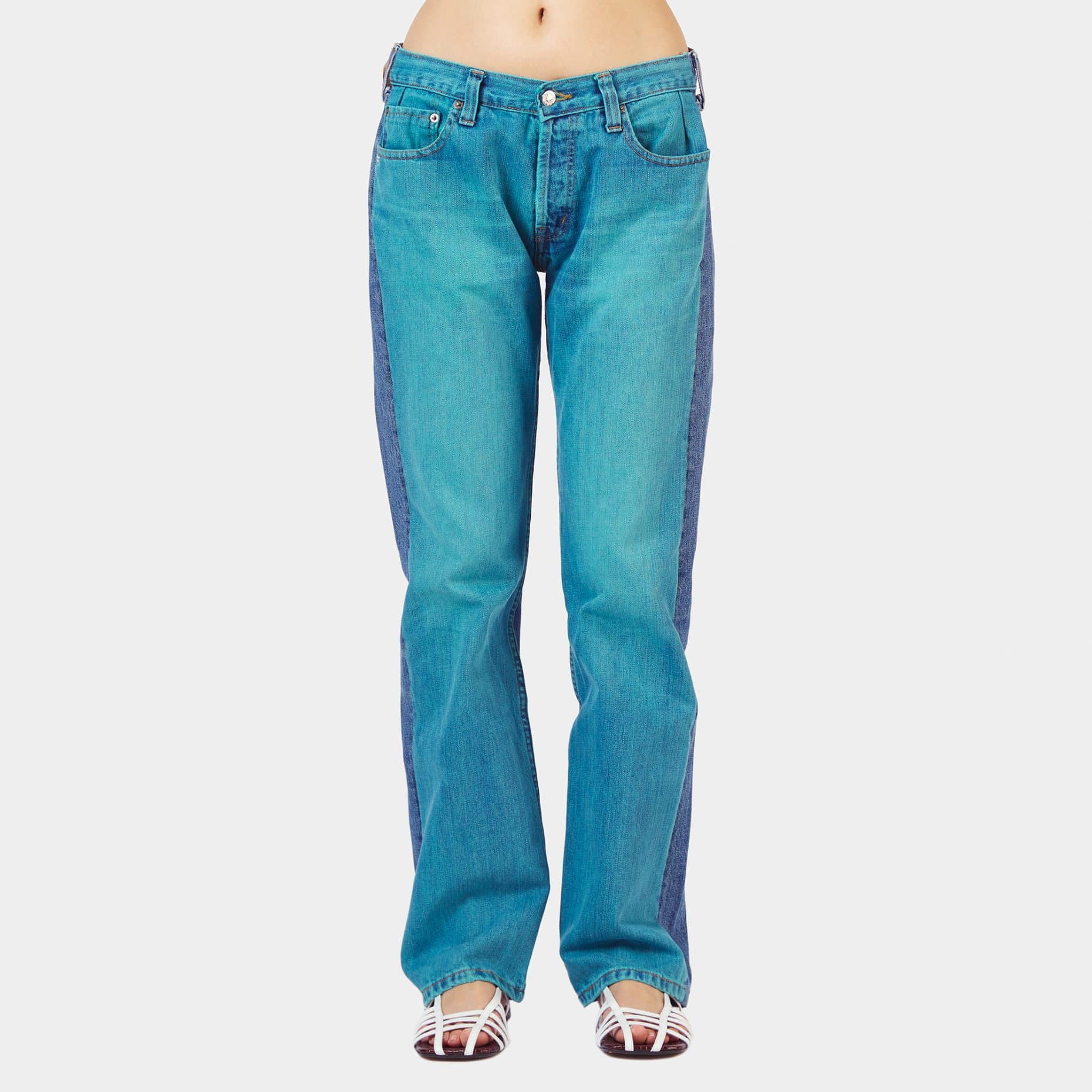 Bless Turquoise Front Jeans