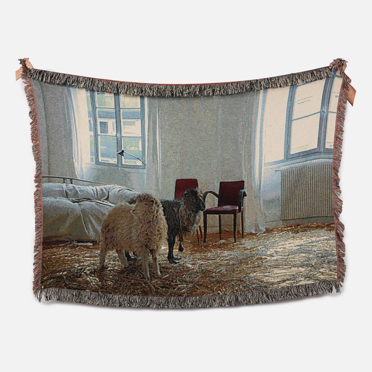 Bless Sheep Blanket