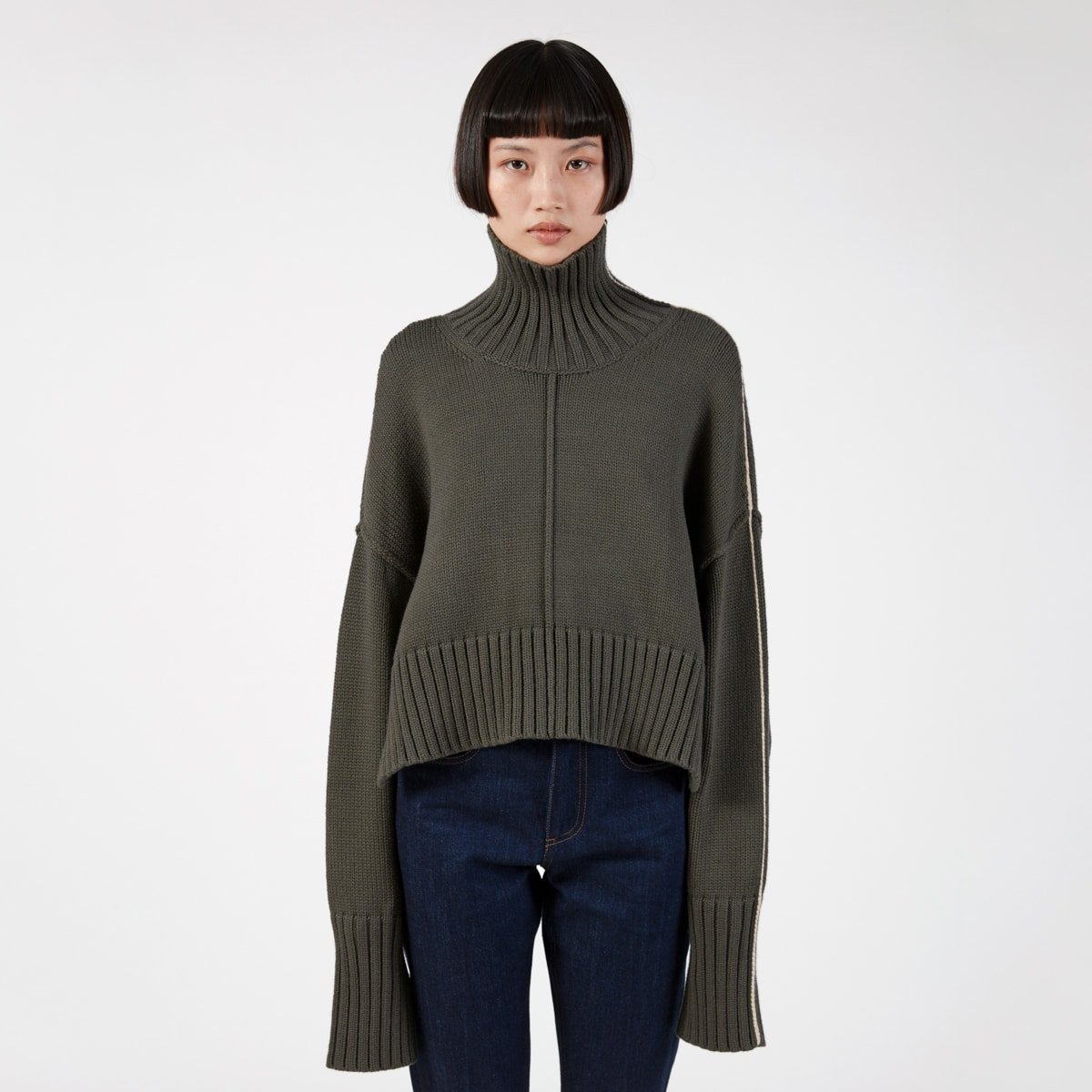 Peter Do Cropped Oversized Sweater