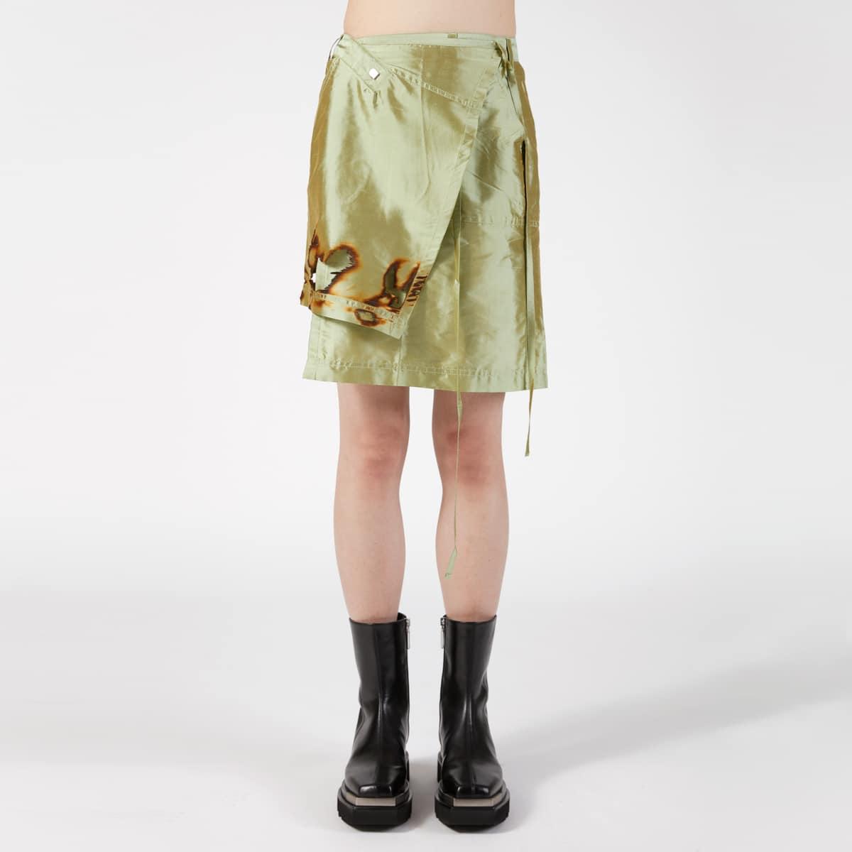 Ottolinger Burned Asymmetrical Silk Skirt