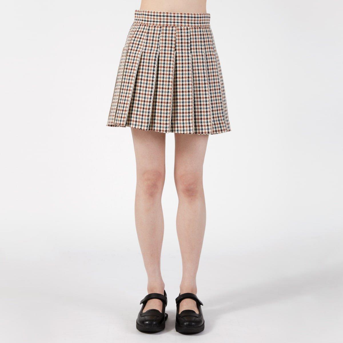 Area Pleated Tennis Skirt