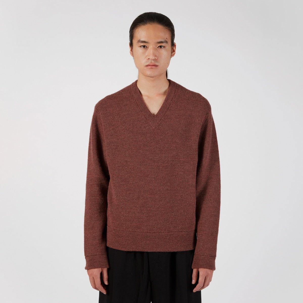 Lemaire Mens Tweed V Neck