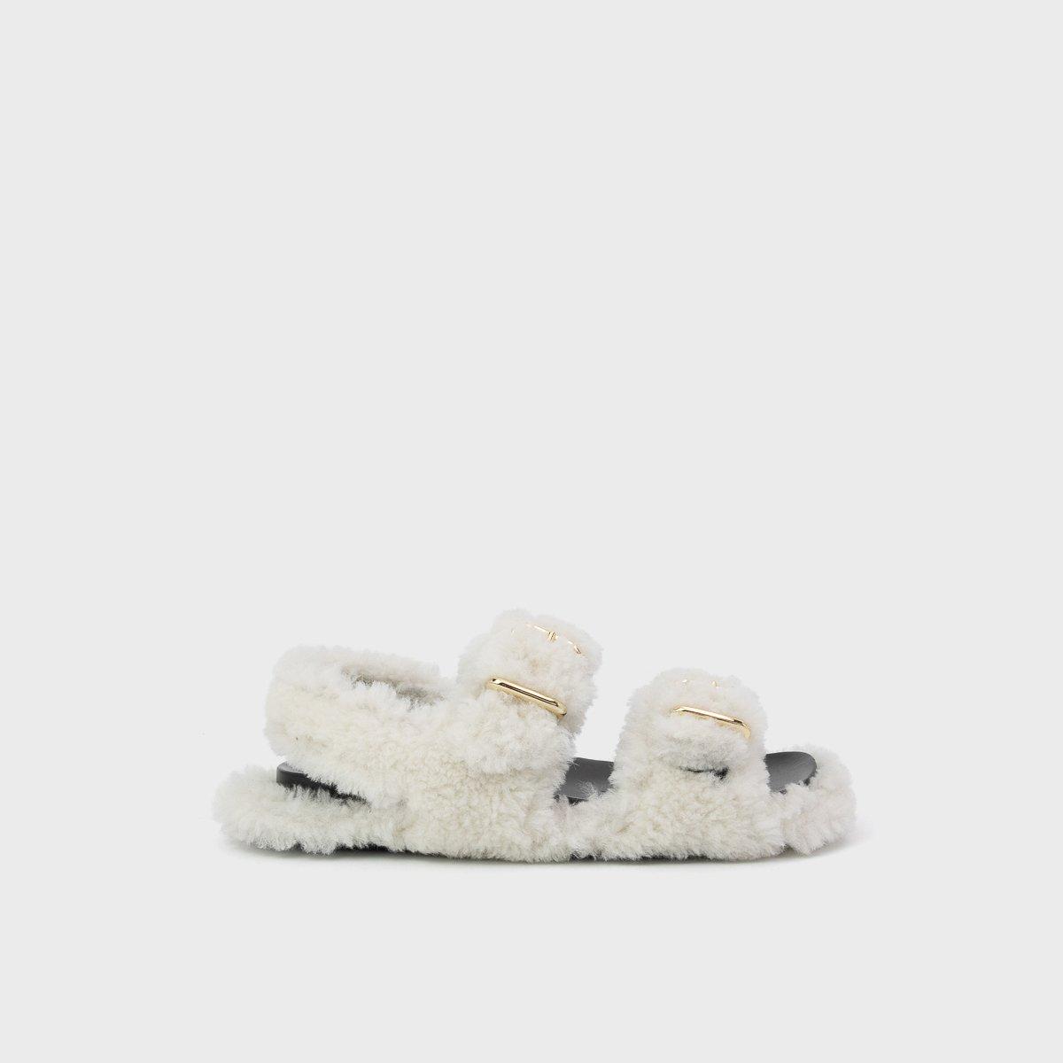 Marni Fussbett Shearling Sandals