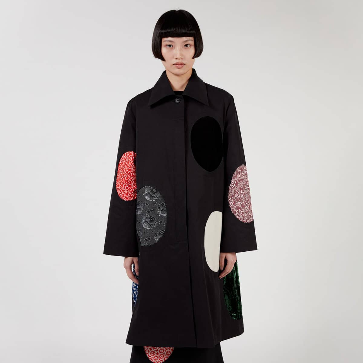 J.Kim Coat With Ovals