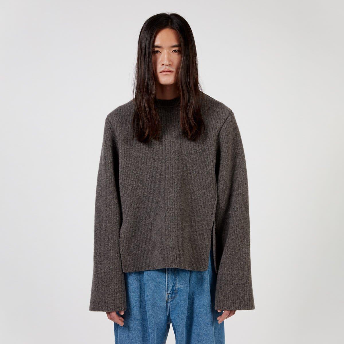 Hed Mayner Crew Neck Slit Sweater