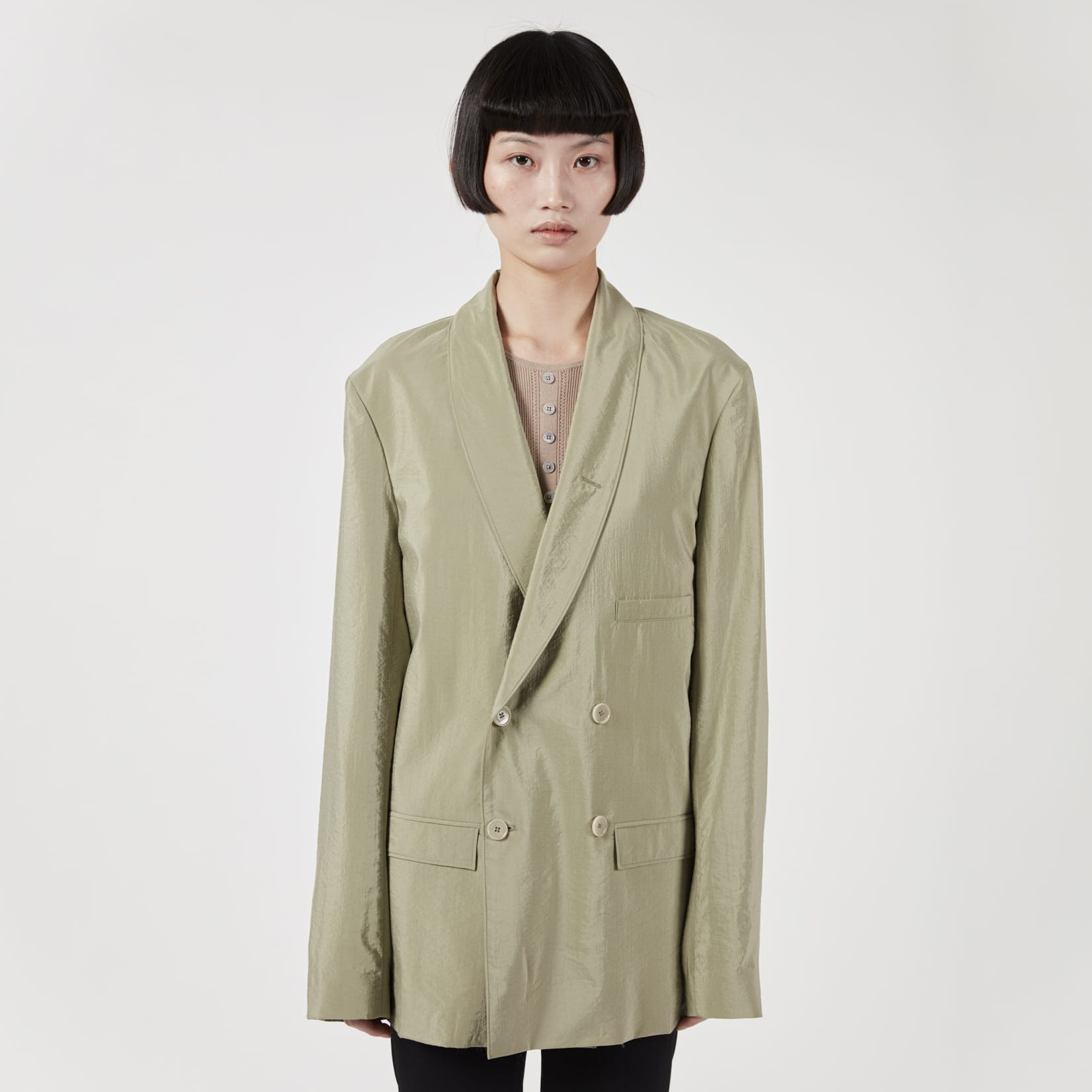 Lemaire Belted Double Breasted Jacket