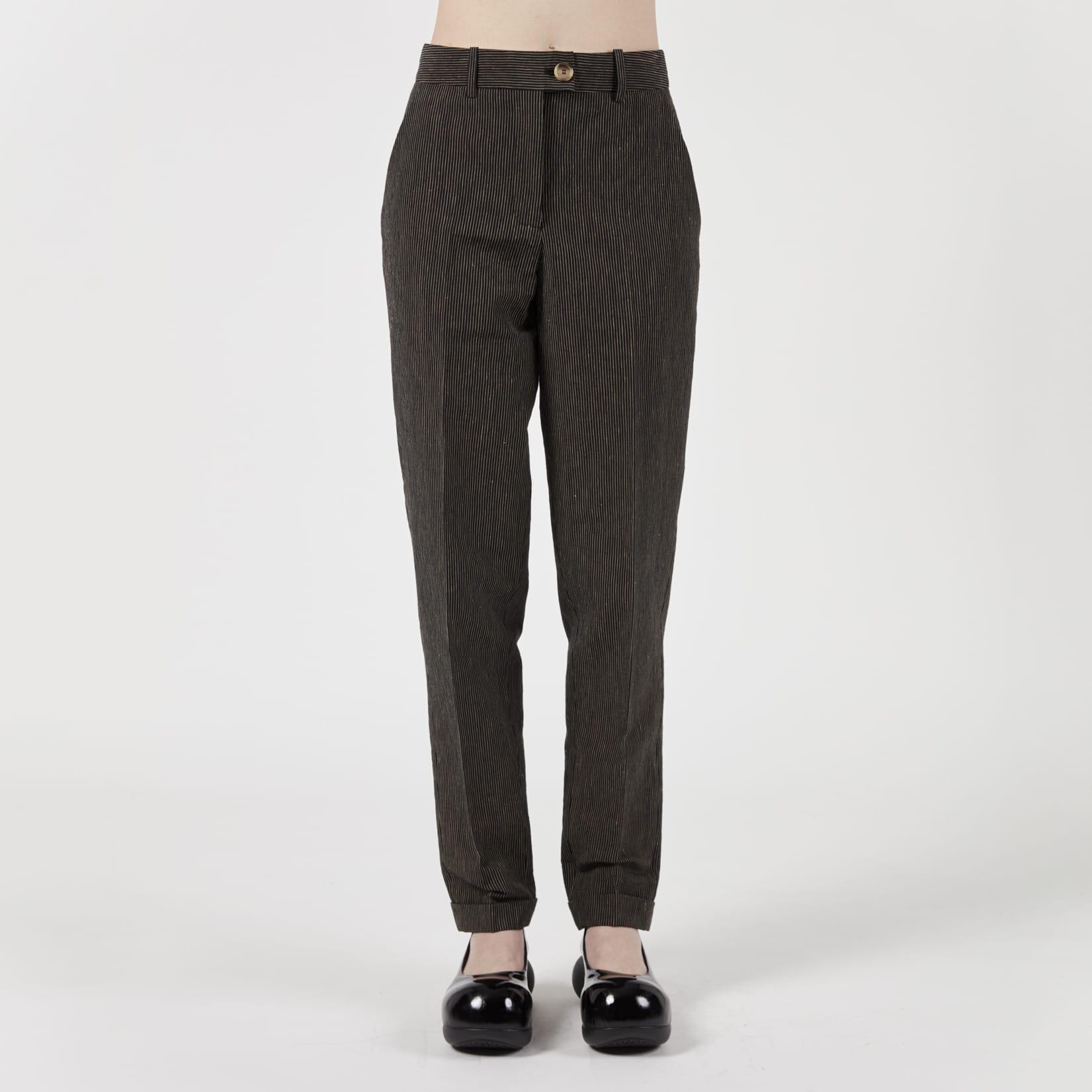 Zanini Chalk Stripe Tailored Trousers