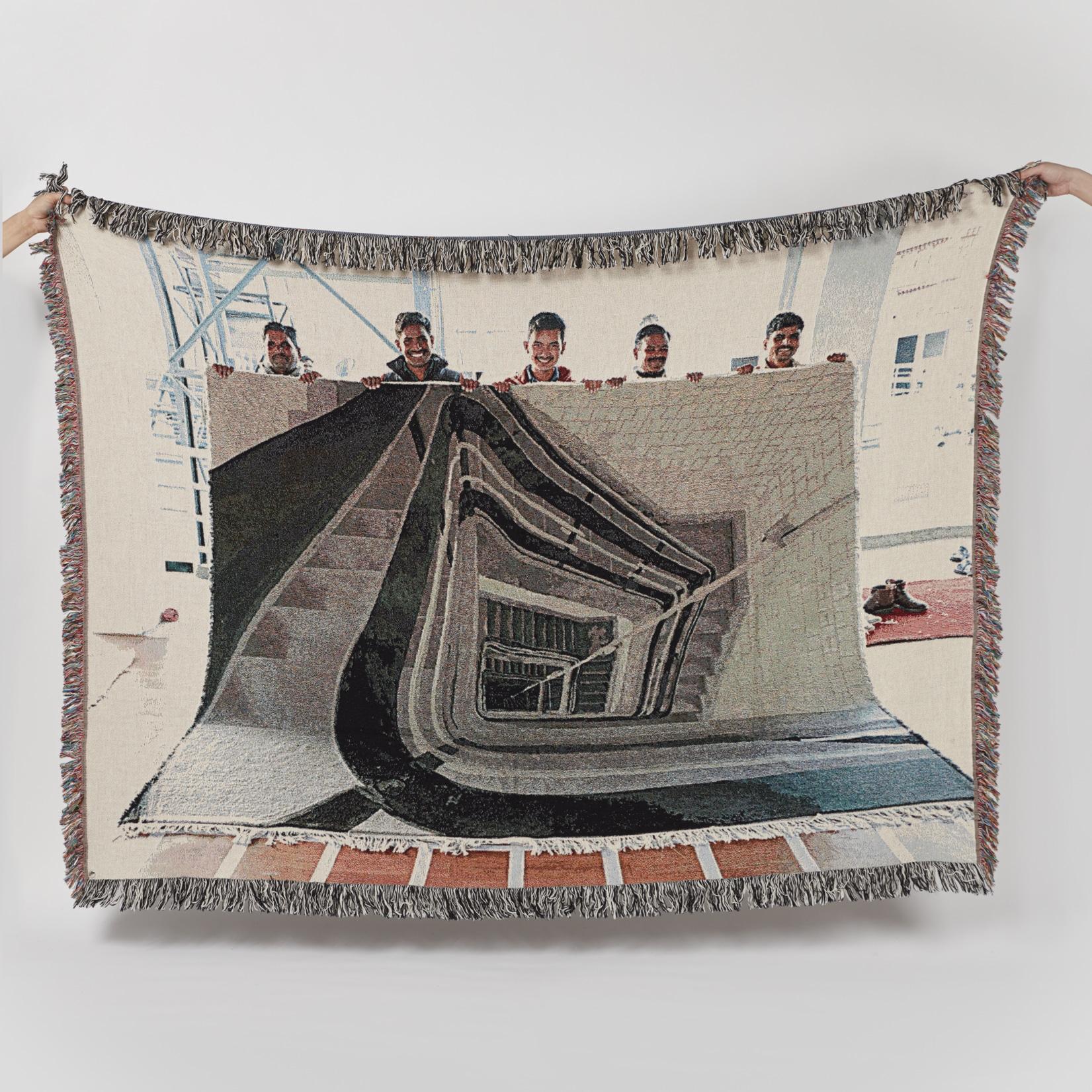 Bless Staircase Carpetfold Blanket
