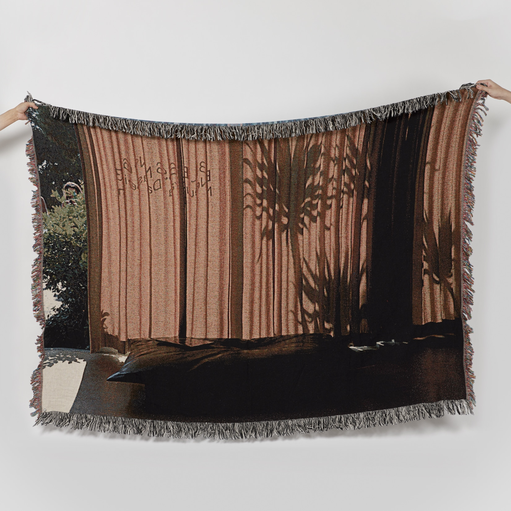 Bless Neutra Palm Shadow Blanket
