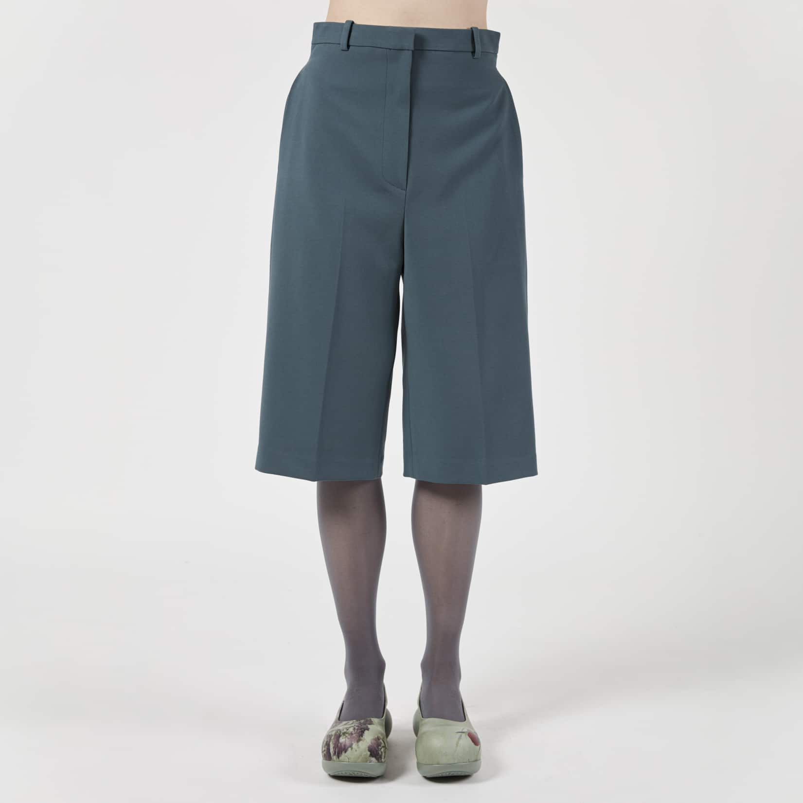 Pushbutton Tailored Bermuda Shorts