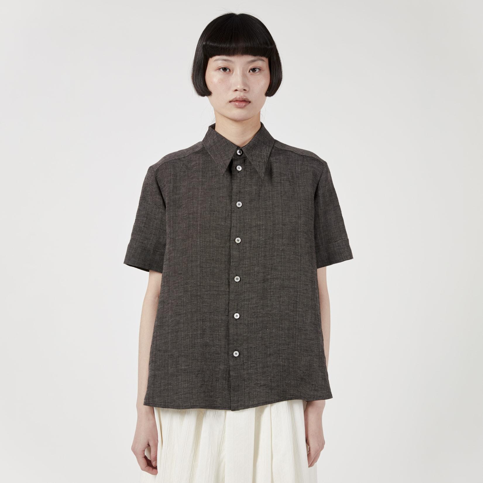 Zanini Linen Grisaille Shirt