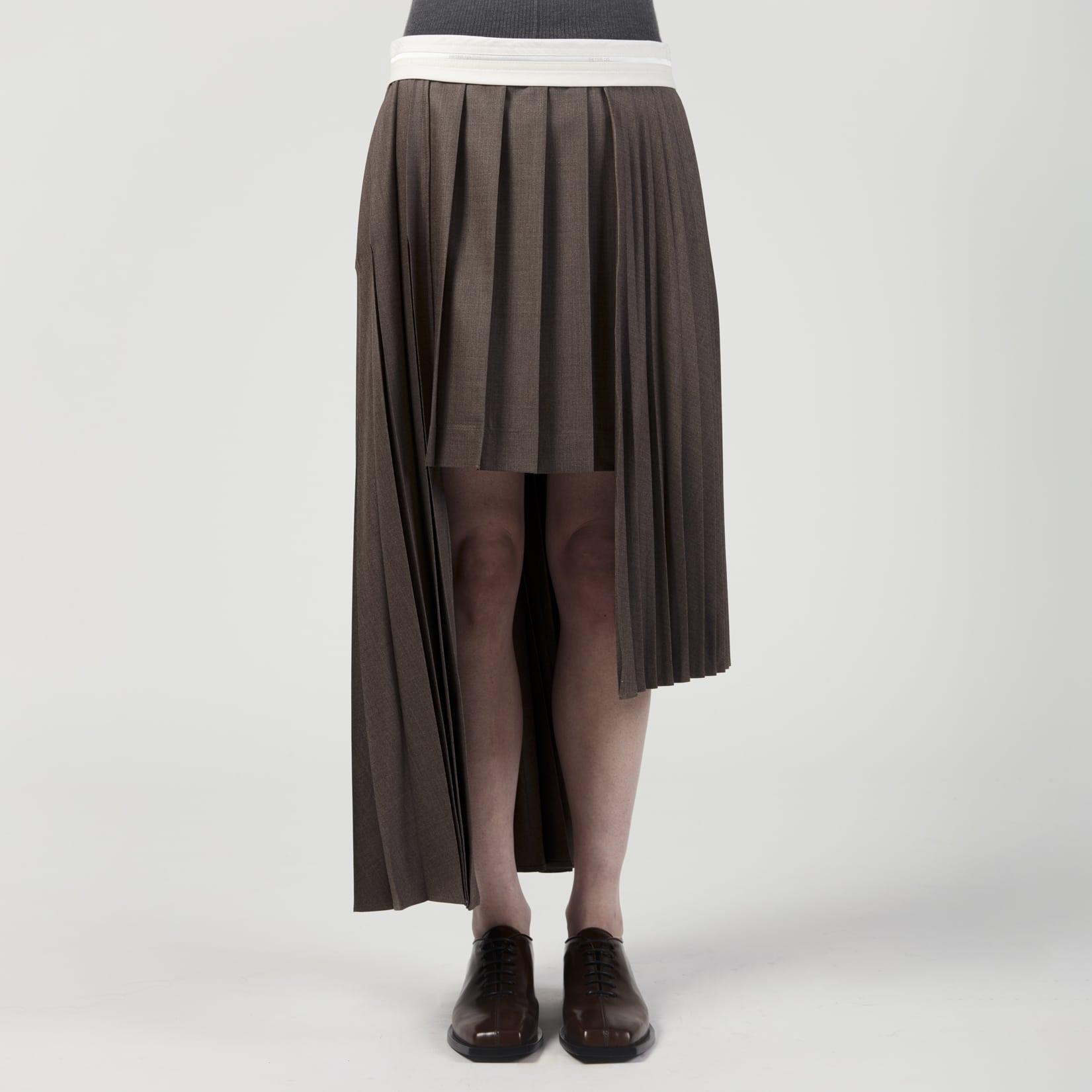 Peter Do Multi Pleat Wrap Skirt