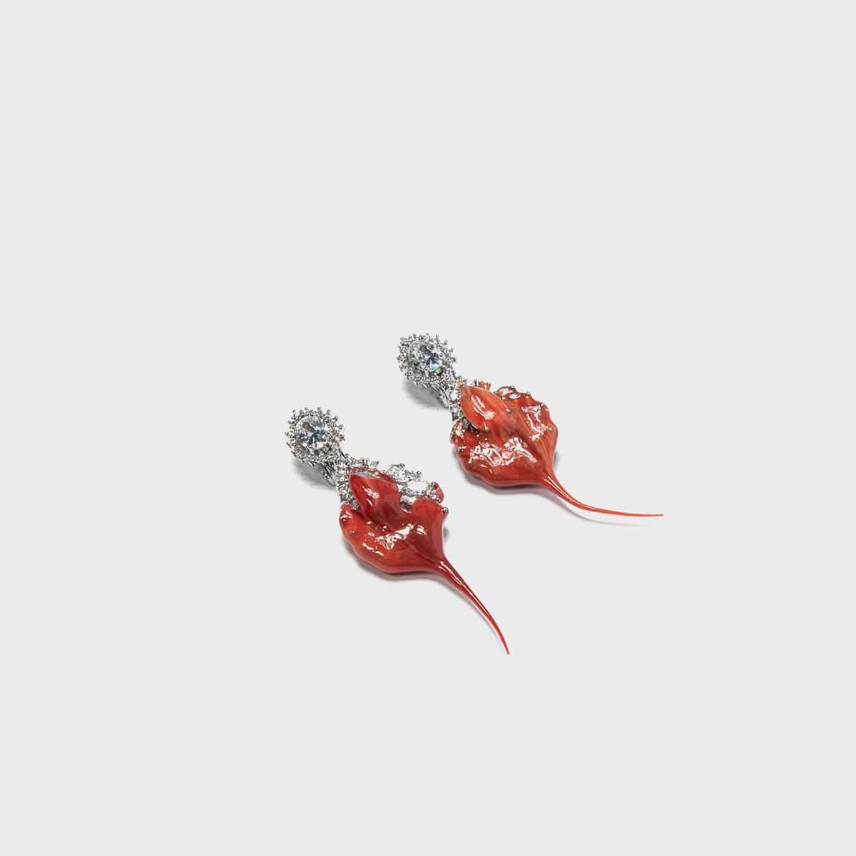 Ottolinger Diamond Dip Clip Earrings